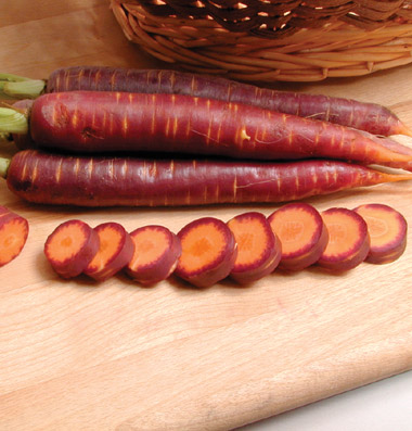 Click to enlarge Certified Naturally Grown Purple Haze Carrots