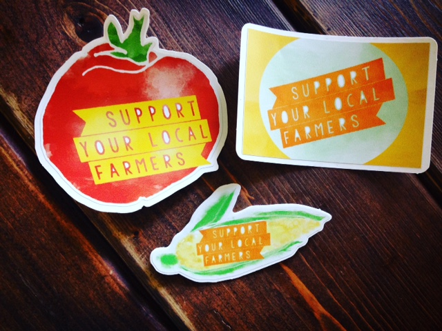 Click to enlarge Local Pride Stickers 3-Pack-- 'Support Your Local Farmers'