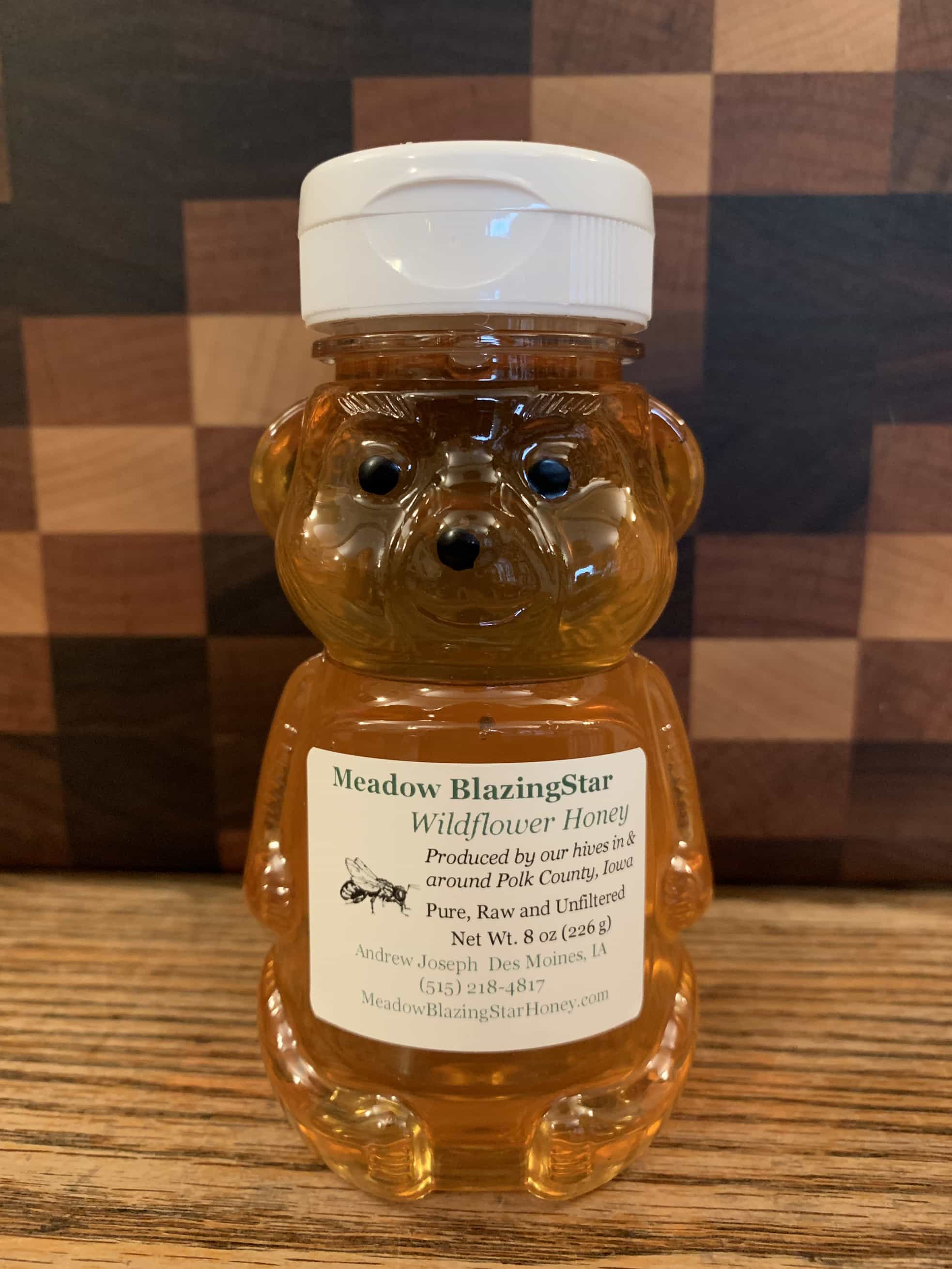 Click to enlarge Pure Raw Honey - (c) 8 oz plastic bear