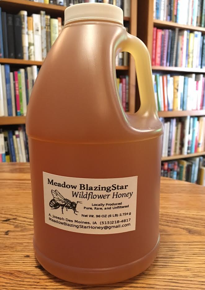 Click to enlarge Pure Raw Honey - (g) 6 lb (half gallon) plastic jug