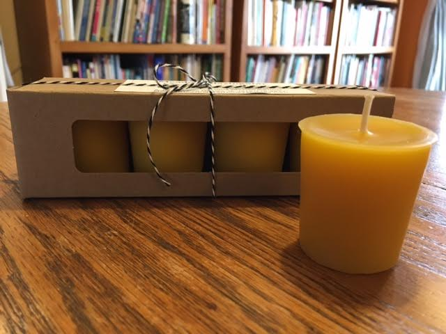 Click to enlarge Beeswax Votive Candles - 4 count