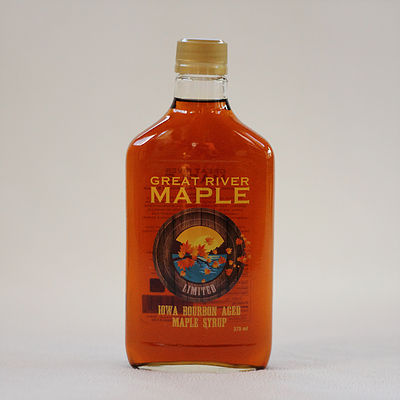 Click to enlarge Iowa Bourbon Aged Maple Syrup