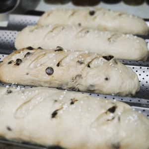 Click to enlarge Dark Chocolate Chip Demi Baguette