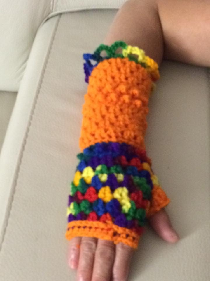 Click to enlarge Crocheted Fingerless Gloves