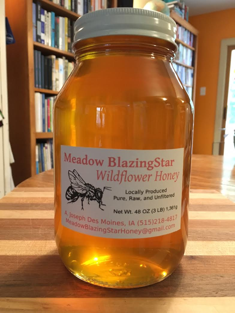 Click to enlarge Pure Raw Honey - 3lb glass jar