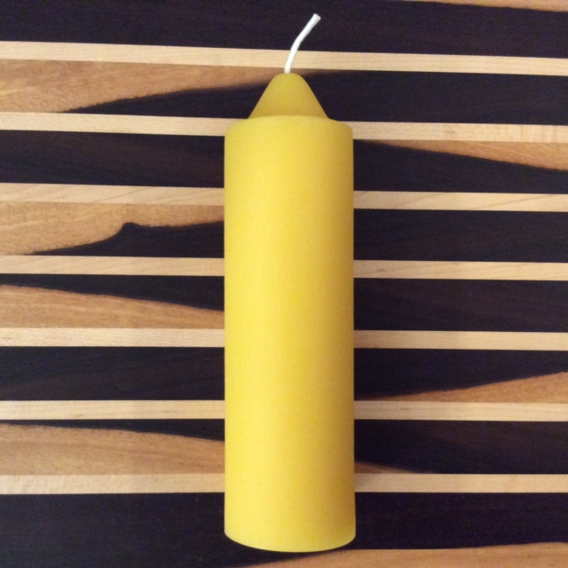 Click to enlarge Beeswax Candle Emergency Taper