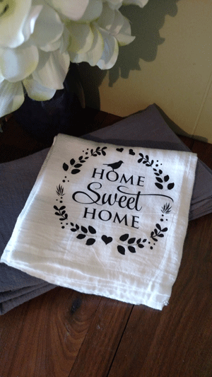 Click to enlarge Kithcen Towel -Home Sweet Home