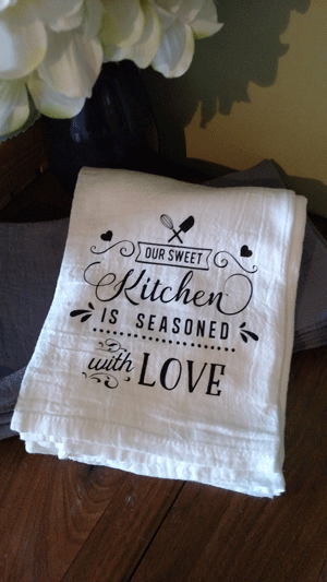 Click to enlarge Kitchen Tea Towel - Our Sweet Kitchen