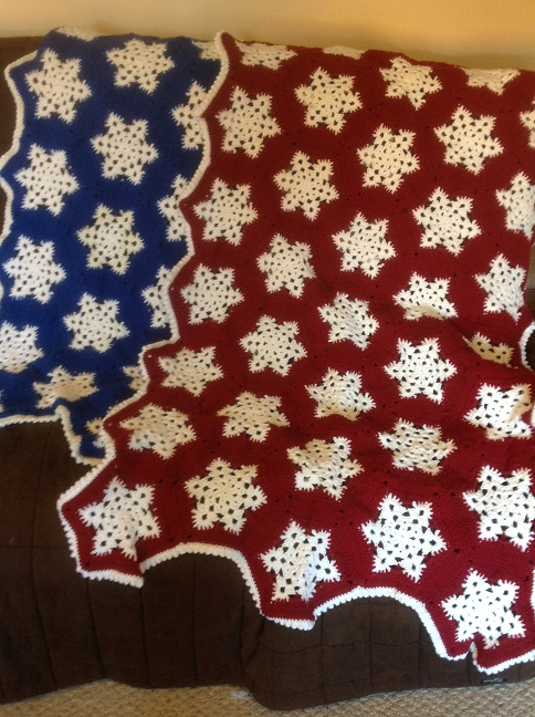 Click to enlarge Snowflake Afghan
