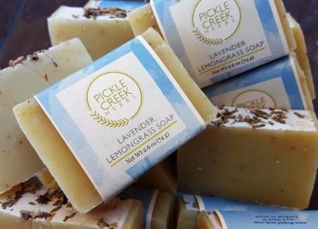 Click to enlarge Lavender Lemongrass Herbal Soap