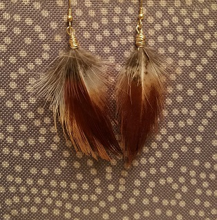 Click to enlarge Pheasant feather earrings