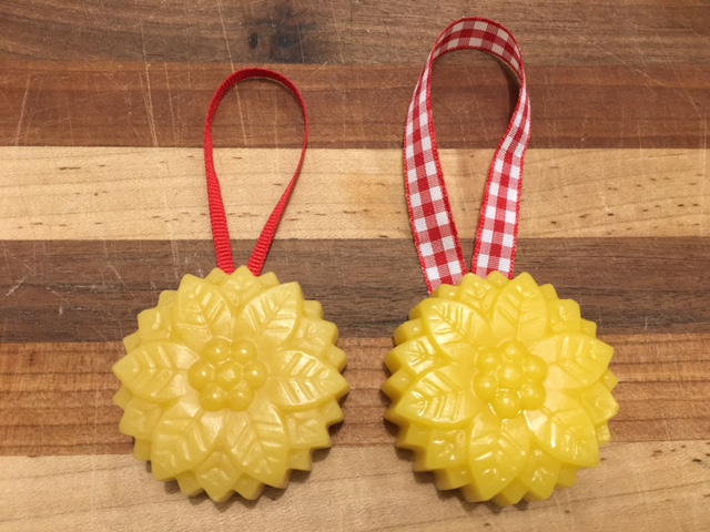Click to enlarge Beeswax Ornament - Poinsettia