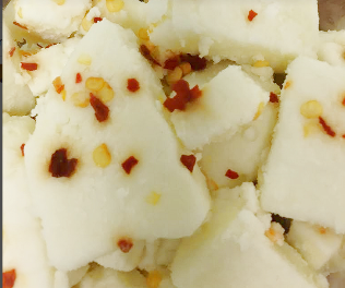 Click to enlarge Goat Cheese Curds, Garlic and Crushed Red Pepper