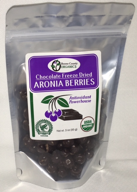 Click to enlarge Chocolate Freeze Dried Aronia Berries 3 oz
