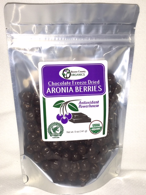 Click to enlarge Chocolate Freeze Dried Aronia Berries 5 oz