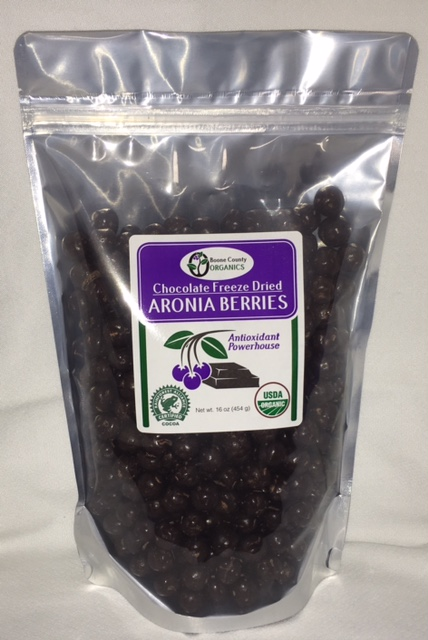 Click to enlarge Chocolate Freeze Dried Aronia Berries 16 oz