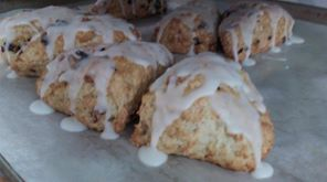 Click to enlarge Lemon Cranberry Scones (Vegan-friendly)