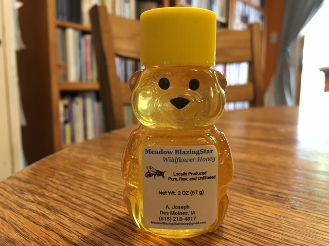 Click to enlarge Pure Raw Honey - (a) 2 oz plastic honey bear
