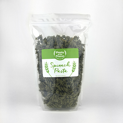 Click to enlarge 9 Oz. Spinach Fusili Pasta