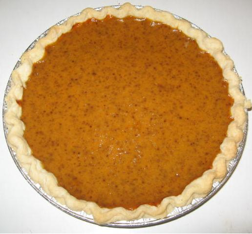 Click to enlarge Pumpkin Pie - Single Crust