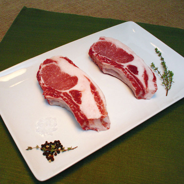 "Click to enlarge NEW Thicker ""Mangalitsa Thick Cut Pork Chops"""