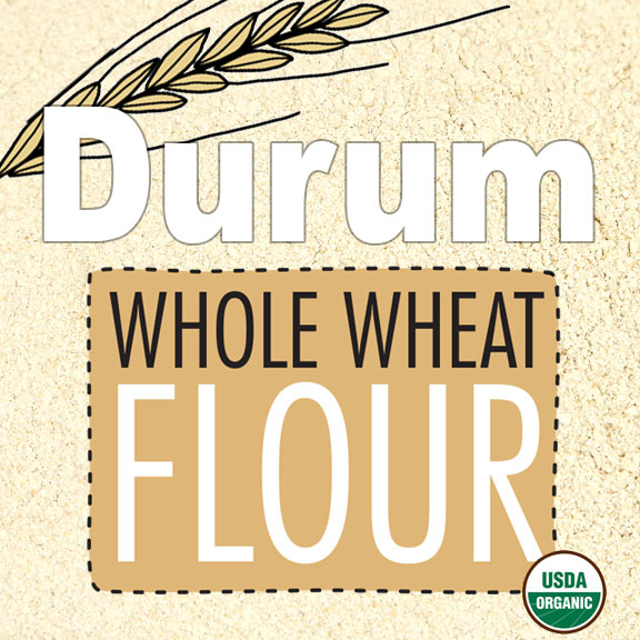 Click to enlarge Organic Durum Whole Wheat Flour