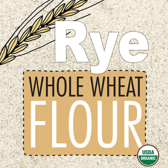 Click to enlarge Organic Rye Whole Grain Flour