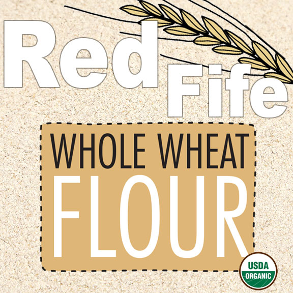 Click to enlarge Organic Red Fife Whole Wheat Flour
