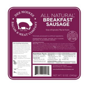 Click to enlarge All Natural Breakfast Sausage