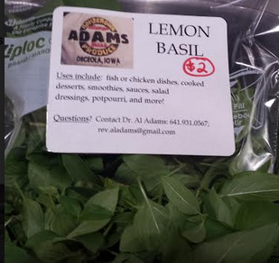 Click to enlarge lemon basil - dried