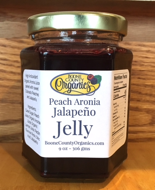 Click to enlarge Peach Aronia Jalapeño Jelly 9 oz