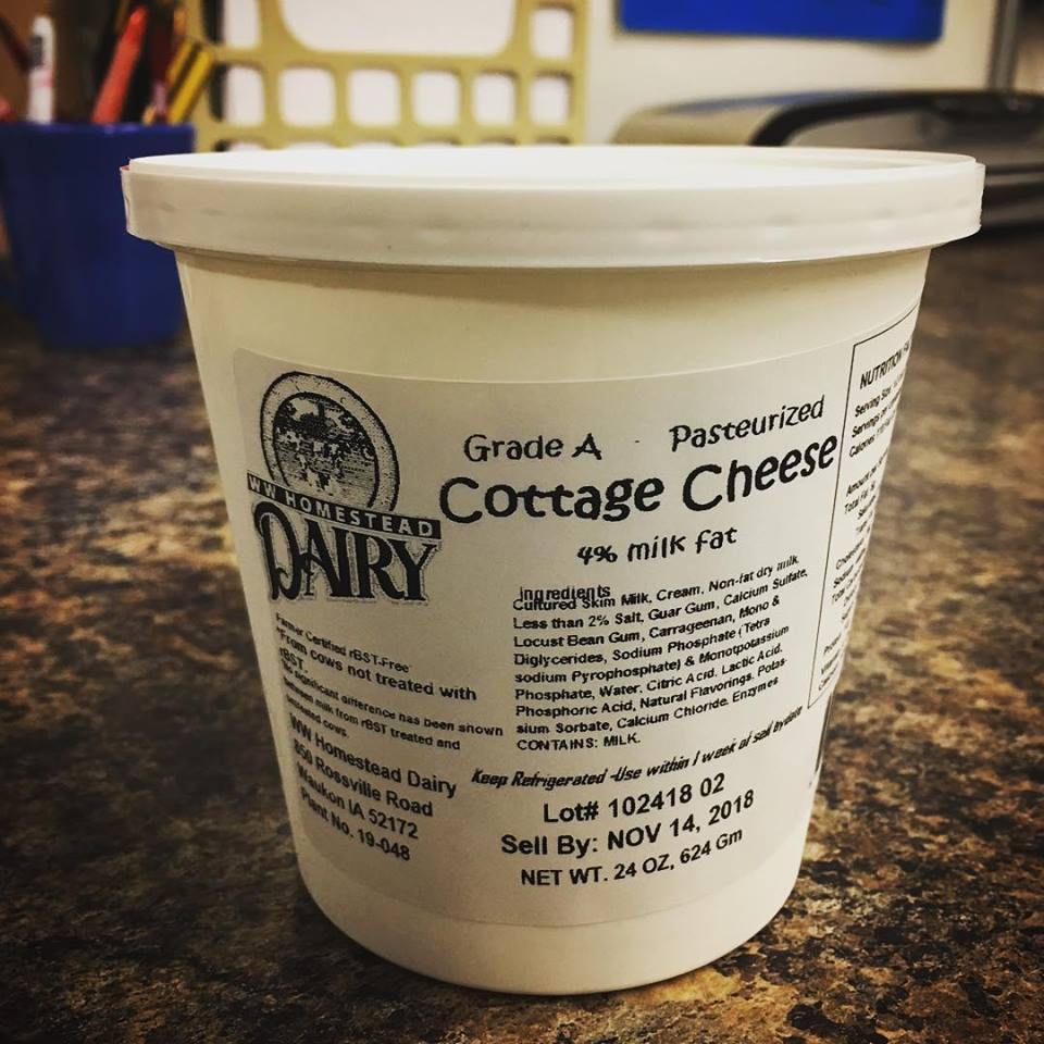 Click to enlarge SALE!!! 4% Small Curd Cottage Cheese - 24oz