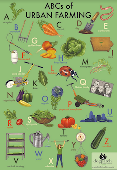 Click to enlarge POSTER - ABC's of Urban Farming
