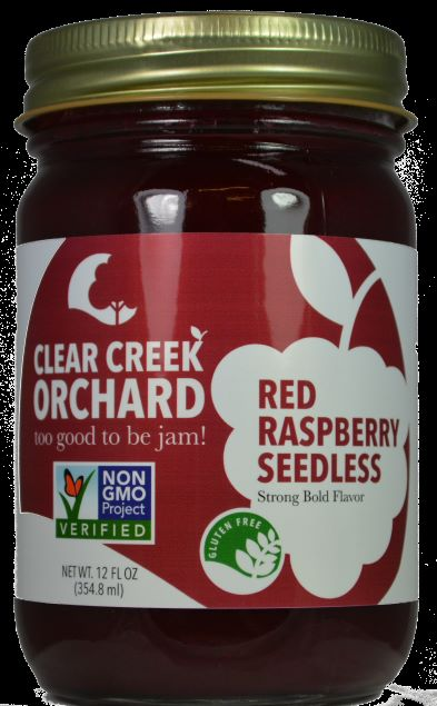 "Click to enlarge Seedless Red Raspberry ""Non GMO"" 12oz Jar"