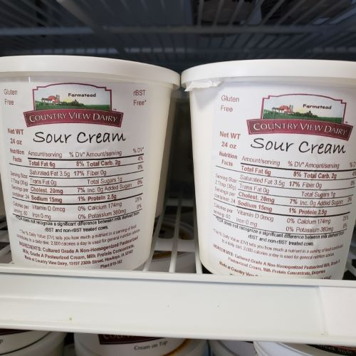 Click to enlarge Sour Cream 24 oz tub