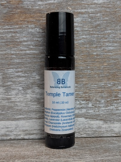 Click to enlarge Temple Tamer Roller Bottle Essential Oil Blend