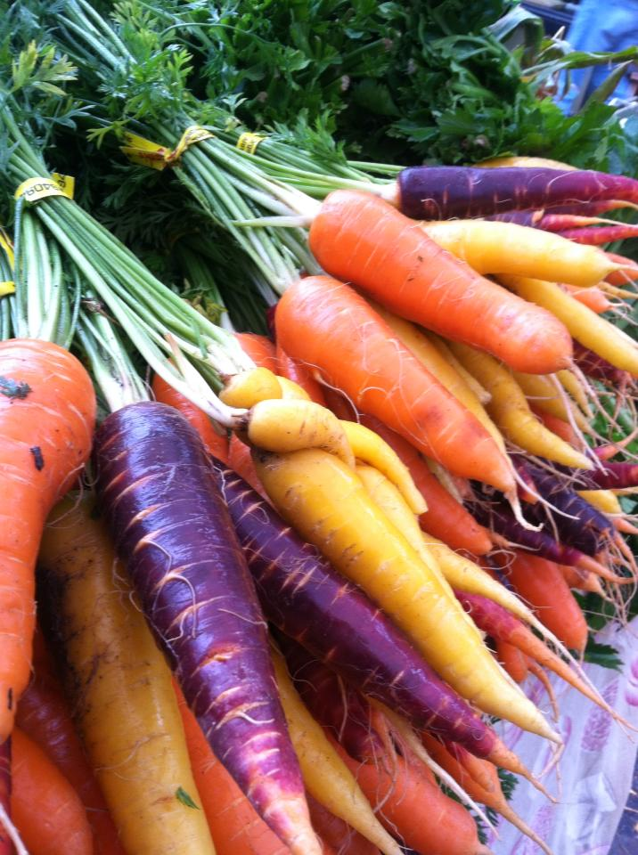 Click to enlarge Rainbow Carrots