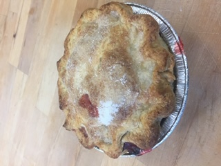 "Click to enlarge 6"" Peach Raspberry Personal Pie"