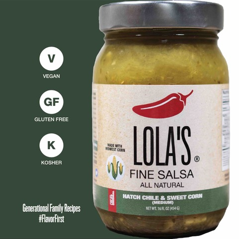 Click to enlarge ON SALE Lola's Hatch chile & sweet corn Salsa
