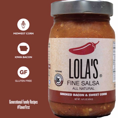 Click to enlarge ON SALE Lola's Smoked bacon & sweet corn Salsa