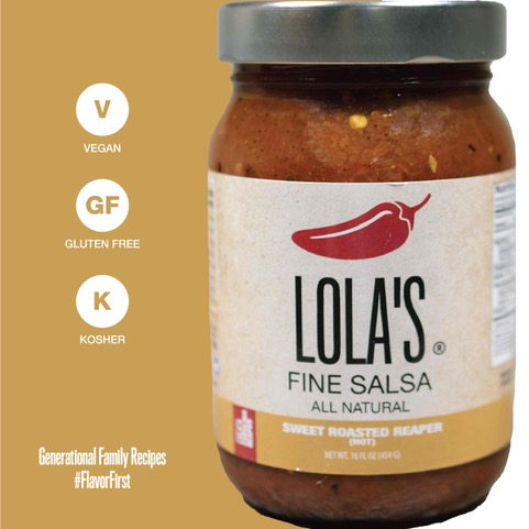 Click to enlarge ON SALE Lola's Sweet roasted reaper Salsa