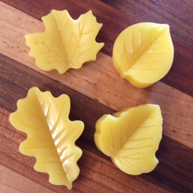 Click to enlarge Beeswax Leaf-Shaped