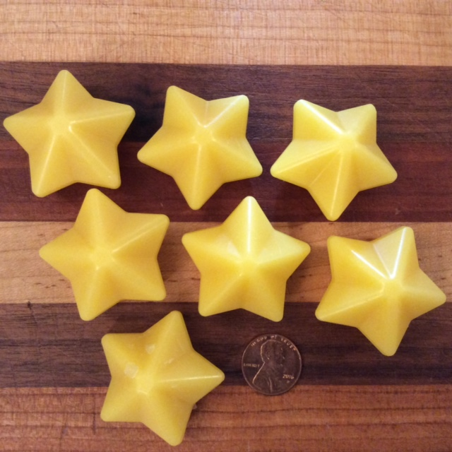 Click to enlarge Beeswax Star Shaped