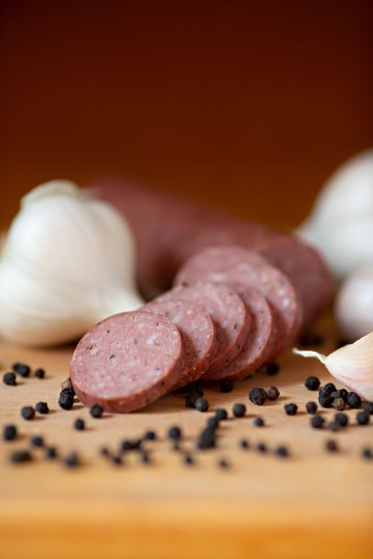 Click to enlarge Summer Sausage- Cracked Pepper and Garlic