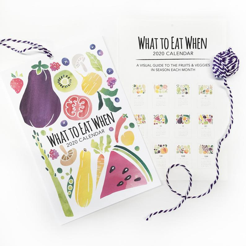 Click to enlarge Watercolor Fruit & Veggie Calendar (50% OFF)