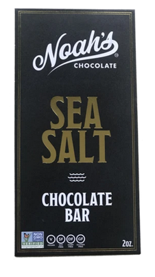 Click to enlarge Noah's Chocolate Sea Salt Dark Chocolate Bar