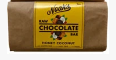 Click to enlarge Noah's Raw Chocolate Honey Coconut Bar