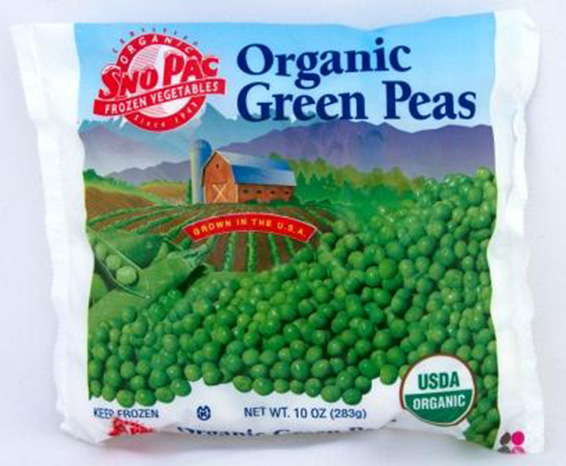 Click to enlarge Certified Organic Frozen Sweet Peas