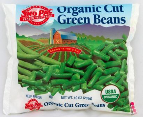 Click to enlarge Certified Organic Frozen Cut Green Beans