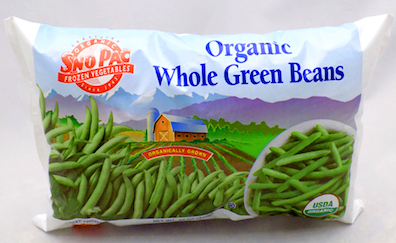 Click to enlarge Certified Organic Frozen Whole Green Beans